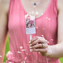 Lace Personalised Wedding Confetti Pops