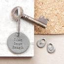 'Live Love Laugh' Keyring