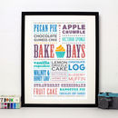 'Bake Days' Art Print