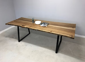 Live Edge Walnut Dining / Boardroom Table - furniture