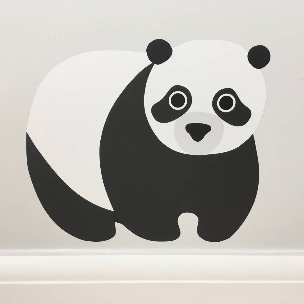 panda wall sticker by chameleon wall art 3pcs removable panda wall stickers home wall decals switch