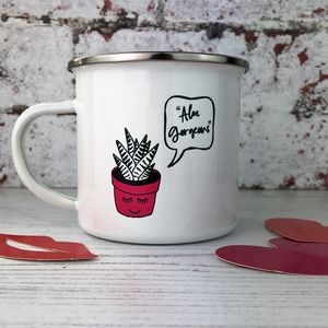 'Aloe Gorgeous' Enamel Mug - tableware