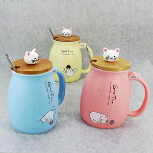 Cat Mugs In Assorted Colours