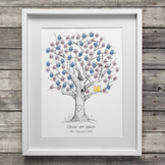 Oak Wedding Fingerprint Tree Guest Book - weddings