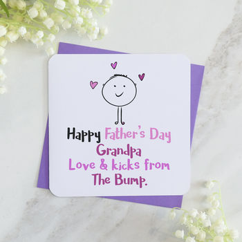 Happy Father's Day Grandfather From The Pink Bump Card