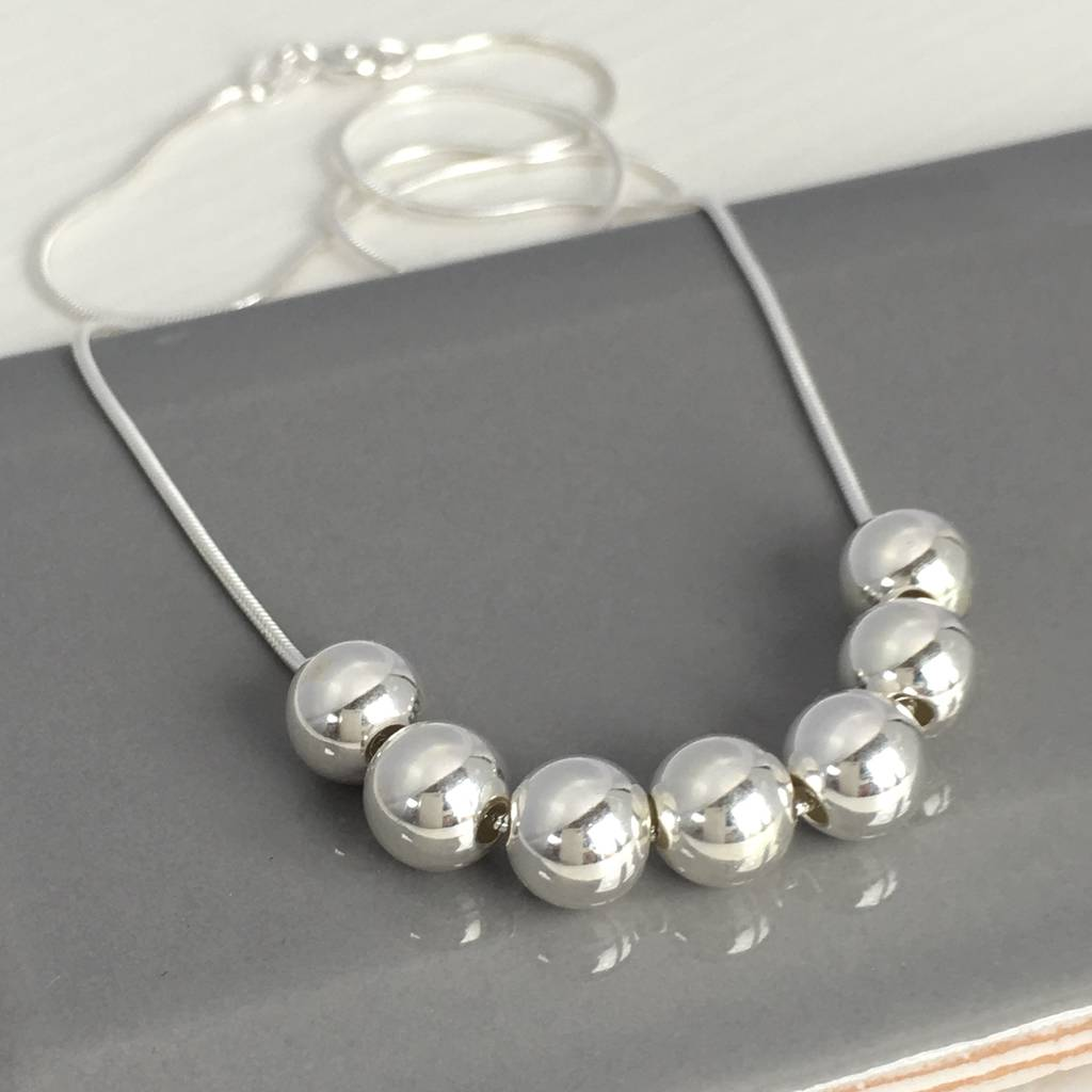 by handmade product birthday necklace handmadebyhelle helle bead silver original