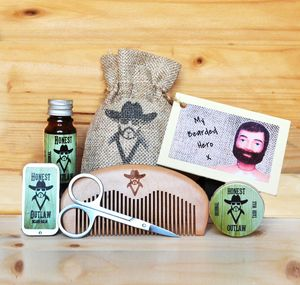 Beard Grooming Kit With Personalised Gift Card - gifts for him