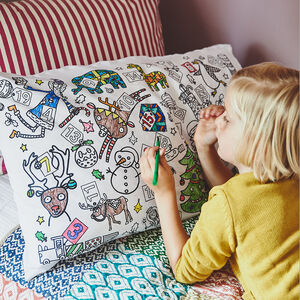 Colour In Pillowcase Christmas
