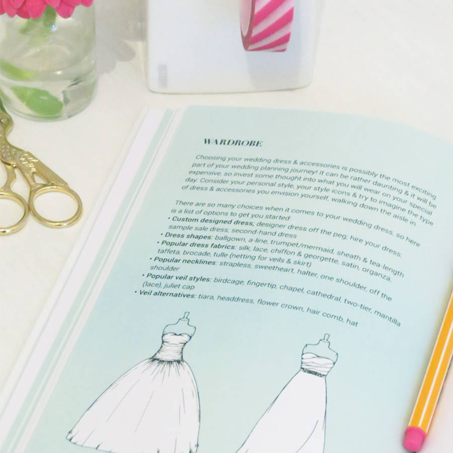 Wedding planner guide journal and notebook by pearl mason wedding planner guide journal and notebook solutioingenieria Image collections