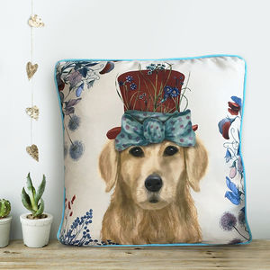 Golden Retriever Cushion, The Milliners Dogs - baby's room