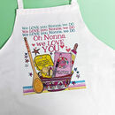 Personalised 'Love You' Grandma Apron