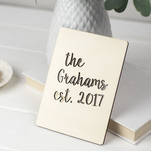 Personalised Wooden Wedding Card - wedding cards