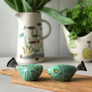Fish Salt And Pepper Shakers - kitchen