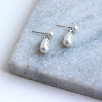 Sterling Silver Saphira Earrings With Swarovski Pearls