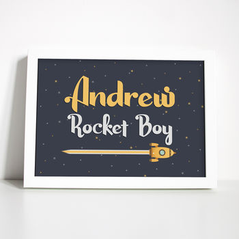 Personalised Rocket Boy/Girl Print Or Digital Download
