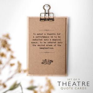 Theatre Lover Gift Quotes Cards