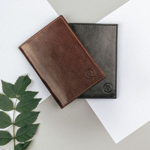 Luxury Leather Jacket Wallet. 'The Pianillo'