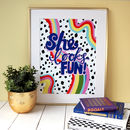 She Looks Fun Typography Print