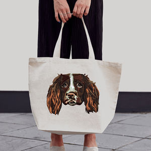 Personalised Pet Embroidered Tote Bag - shoulder bags