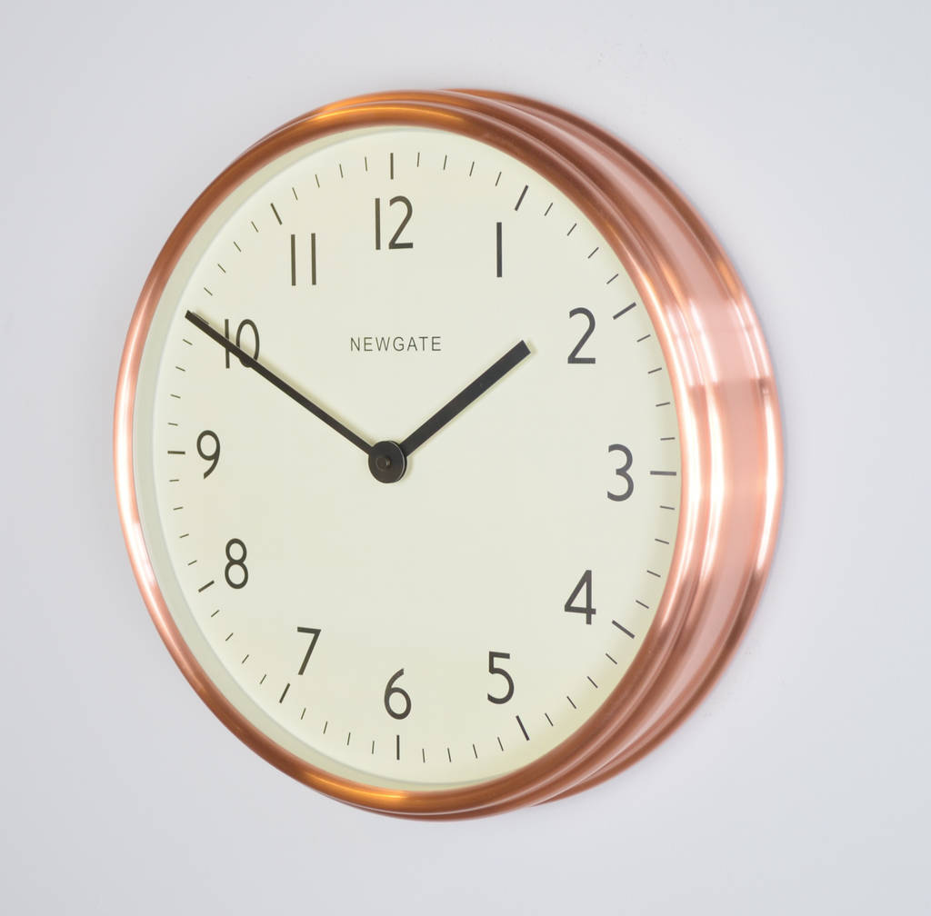 Newgate the spy metal wall clock by the orchard newgate the spy metal wall clock radial copper amipublicfo Images