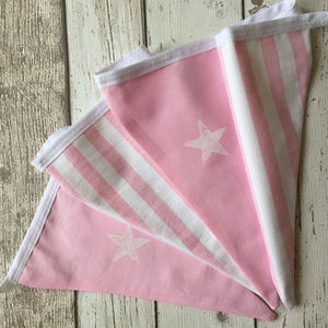 Pink Stars And Stripes Bunting - room decorations