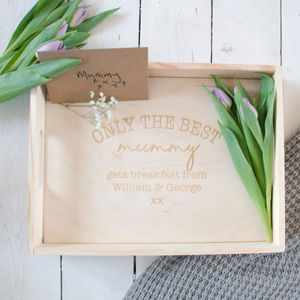 Personalised Only The Best Mum Breakfast Tray - kitchen