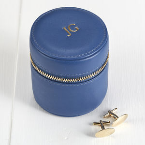 Luxury Soft Leather Mens Accessories Box With Initials
