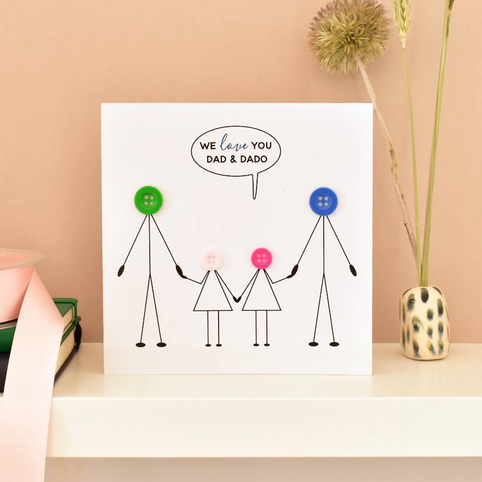 Children And Two Dads Card