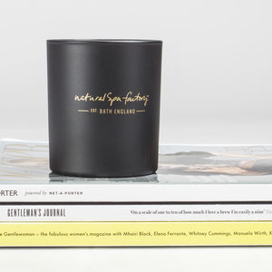 Amber Noir Candle With Presentation Box - candles & home fragrance