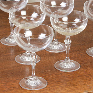 Set Of Four Versailles Champagne Coupe Glasses