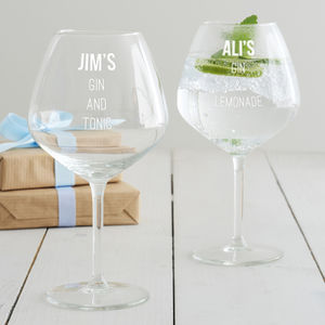 Personalised Gin Goblet - birthday gifts