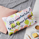 Floral Print Dreams Quote Cushion