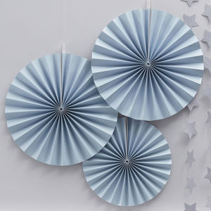 Pastel Blue Party Pinwheel Hanging Decorations
