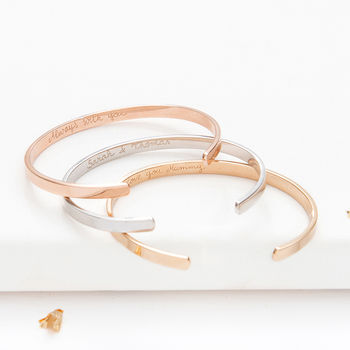 Personalised Open Bangle
