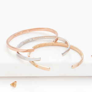 Personalised Open Bangle - bracelets