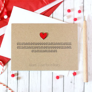 I Love You In Binary, Anniversary Card, Nerd Card - anniversary cards
