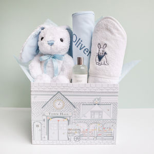 Little Love Bubbles And Snuggles Hamper, Blue - sleeping