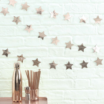 Rose Gold Foiled Star Garland Bunting