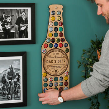 Personalised Beer Bottle Wall Art For The Home