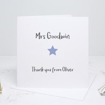 Thank You Teacher End Of Term Card