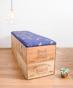 Extra Large Wooden Blanket Box Ottoman