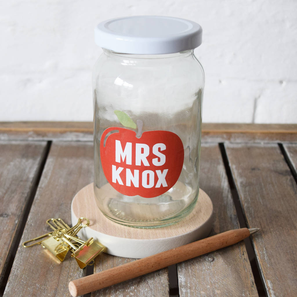 teacher apple treat jar