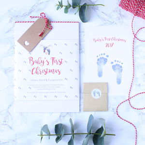 Baby's First Christmas Inkless Print Kit - gifts for babies & children