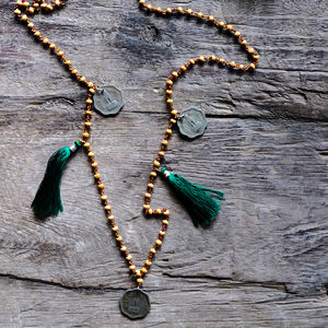 'Your India' Handmade Vintage Rupee Coin Necklace