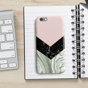 Agate Marble Chevron Phone Case