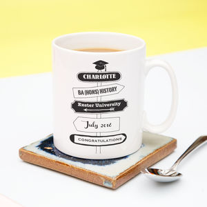 Personalised Graduation Signpost Mug - tableware