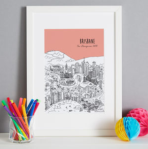 Personalised Brisbane Print