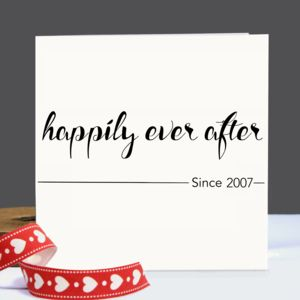 Personalised 'Happily Ever After' Card - wedding cards