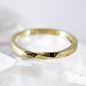 Scottish And Recycled Gold Infinity Twist 2mm Ring