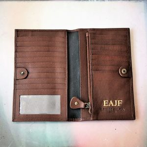 Personalised Luxury Large Leather Wallet - purses & wallets